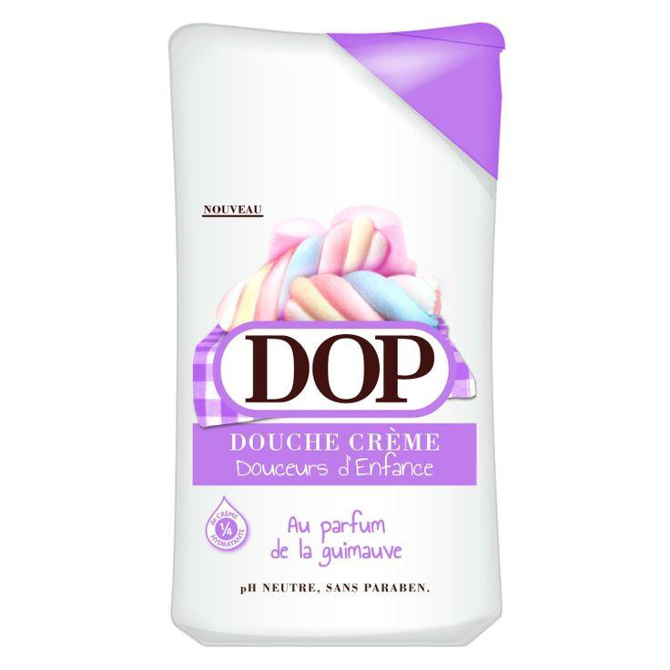 Gel douche DOP parfum Guimauve, Quatre quart citron, Tartelette à la fraise, ou Madeleines - Grande surface