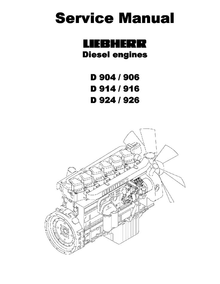 Liebherr D904 D906 D914 D916 D924 D926 Diesel Engine