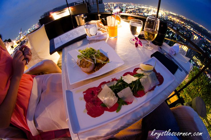 Vertigo Restaurant and Moon Bar. Bangkok. www.krystlescorner.com