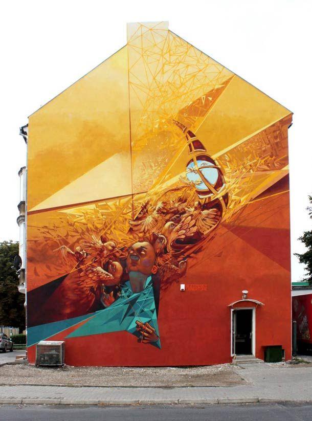 Une petite sélection de photographies pour découvrir le Street Art des artistes polonais SAINER et BEZT et leur ETAM CRU. Entre toiles acryliques et fresques