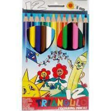 12 darabos, vastag háromszögletű színes ceruza készlet Triangulo - Színes ceruzák - 1,269Ft - Színes ceruza készlet