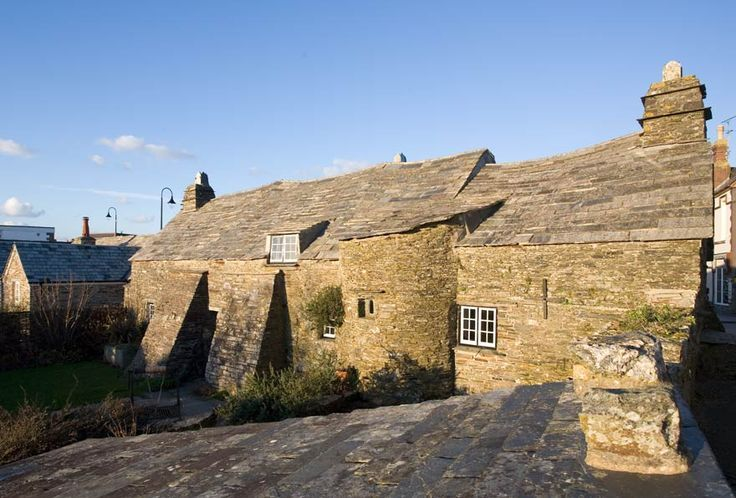 Cornish 14th C manor : Rear of Tintagel Old Post Office, Cornwall ✫ღ⊰n