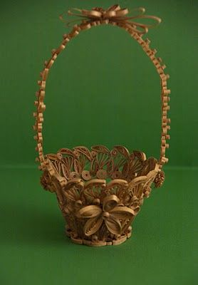 quilled basket