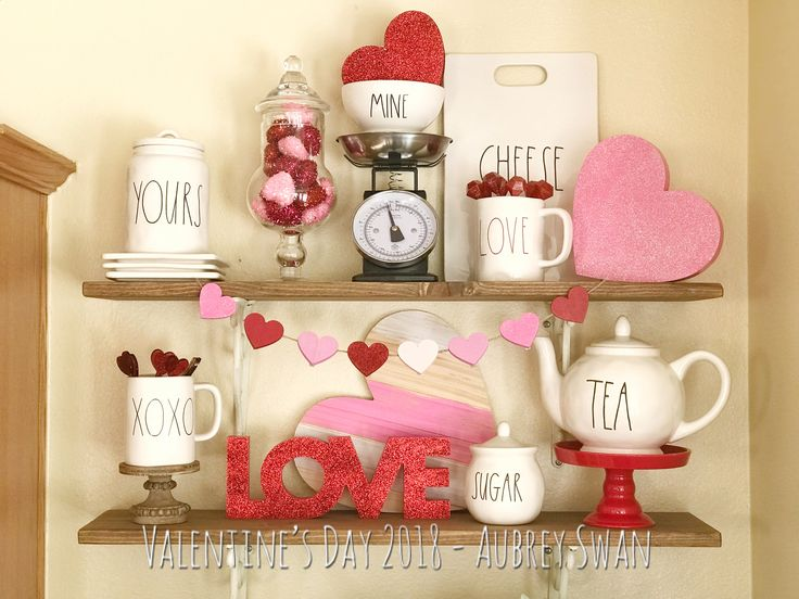 Valentines Day Decor w/ Rae Dunn, Target Dollar Spot, and Hearth & Hand #Farmhouse #Love #ValentinesDay #FixerUpper