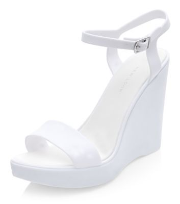 White Jelly Wedges | New Look