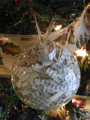 .This is a great idea, again - be careful what kind of shredded messages you are keeping....inside a Christmas ornament.  You won't want to spoil the Christmas Spirit.