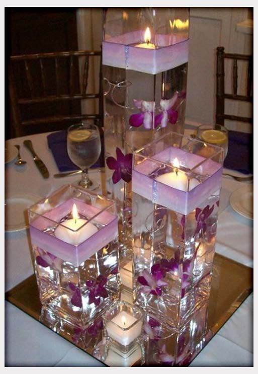 25 best ideas about purple wedding centerpieces on for Inexpensive wedding centrepieces