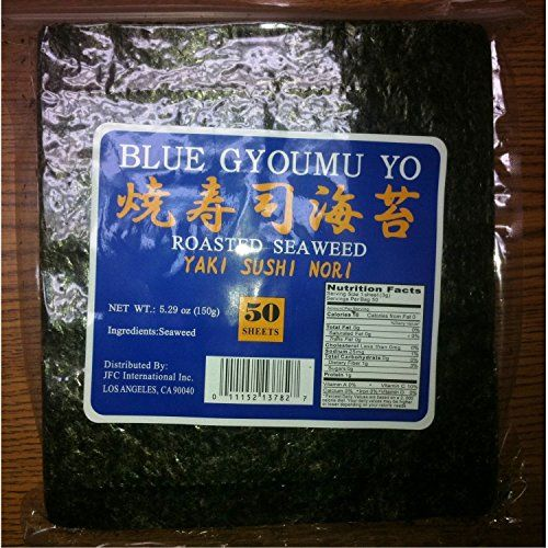 Sushi Nori Seaweed Sheets - 50 Sheets - Blue Gyoumu Yo Premium Quality 5.29-Ounce Sealed Pouche ** You can get more details by clicking on the image.