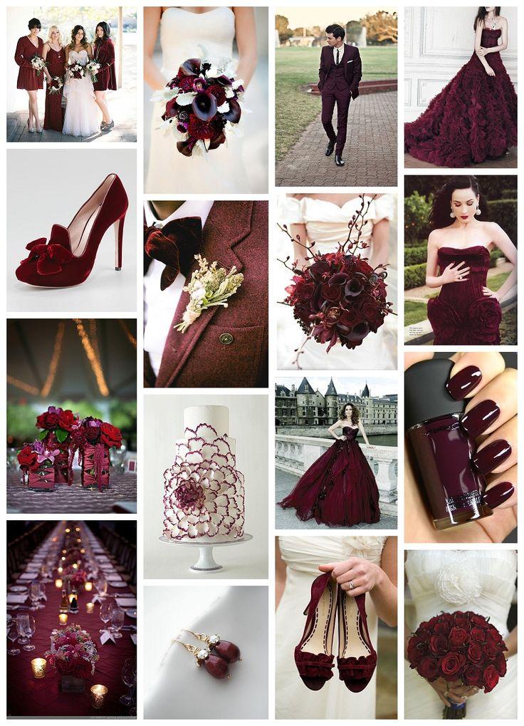 Burgund wedding decor inspiration,  Hochzeitsfarben, farbthema für die Hochzeit, bright and Rich, wedding colors