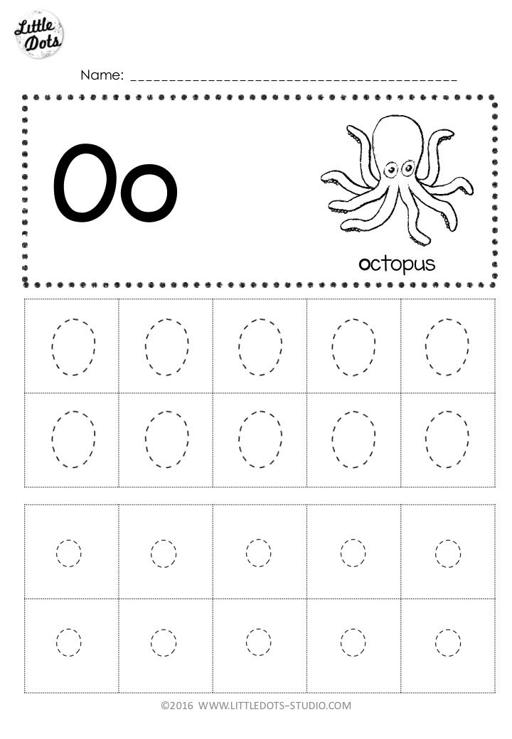 Letter O Tracing Worksheets Preschool | mamiihondenk.org