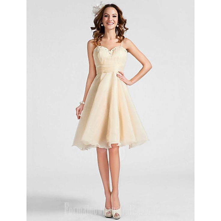 Australia Cocktail Party Dresses Prom Dress Champagne Plus Sizes Dresses Petite A-line Princess Sweetheart Spaghetti Straps Short Knee-length  Coupon Code: Coupon code: 2017 formal 10% discount on any order from Formalgownaustralia.com