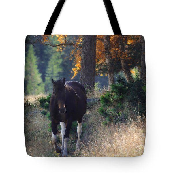 All Tote Bags - September Surrender, horse Tote Bag by Amanda Smith
