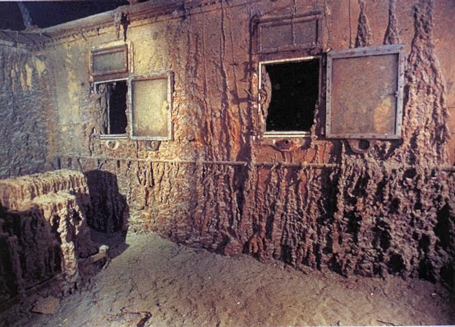 Titanic Officers' cabins, after decades of rusting away under the ocean...