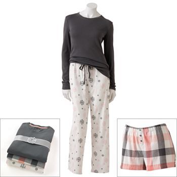 SONOMA life and style 3-pc. Flannel Pajama Gift Set