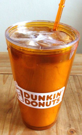 Dunkin' Donuts Iced coffee recipe plus new flavored coffees Coconut,Triple Berry,Strawberry Shortcake #sponsored #ad