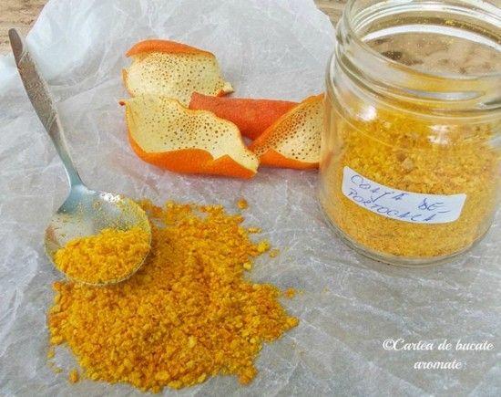 coaja de portocala macinata