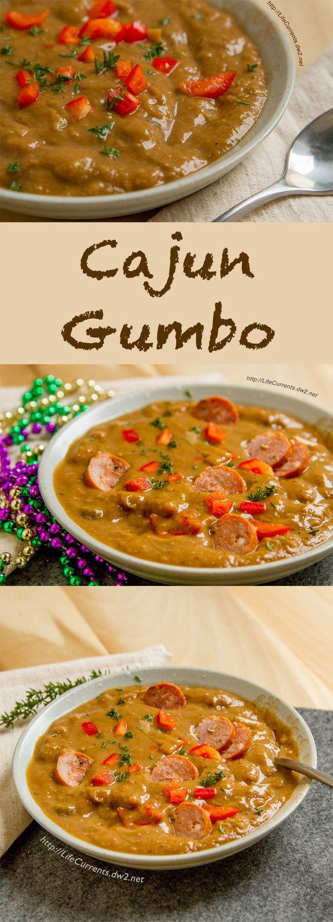 "Dan's World Famous Gumbo is awesome comfort food! It could also be called ""As you like it Gumbo"" because it starts with a delicious vegetarian Gumbo base, and you can add in whatever you like, shrimp, chicken, Andouille sausage, or veggie sausage."