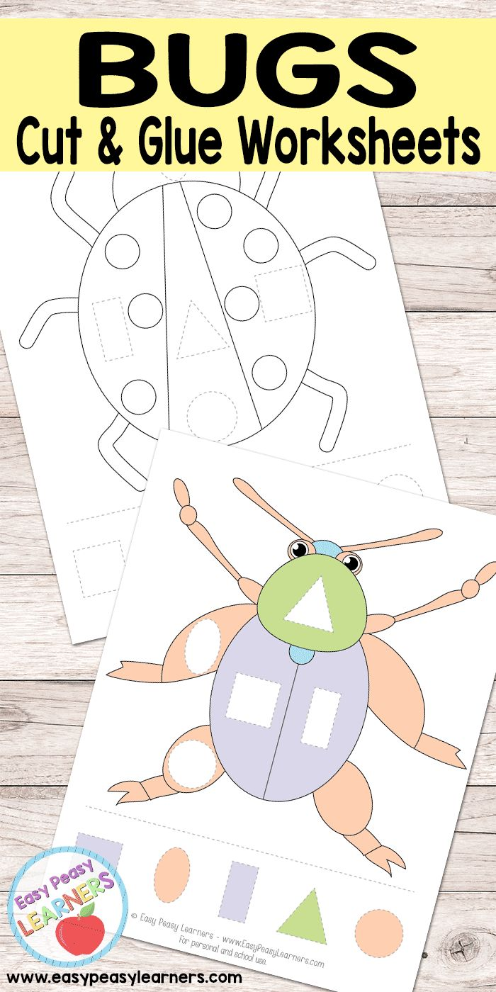 Bugs - Cut and Glue Worksheets