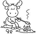 camp moose on the loose coloring pages | 33 best Camp Moose on the Loose VBS 2018 images on ...