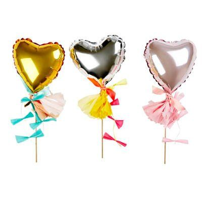 HEART CAKE TOPPER - GOLD - Simply Sweet Soirees