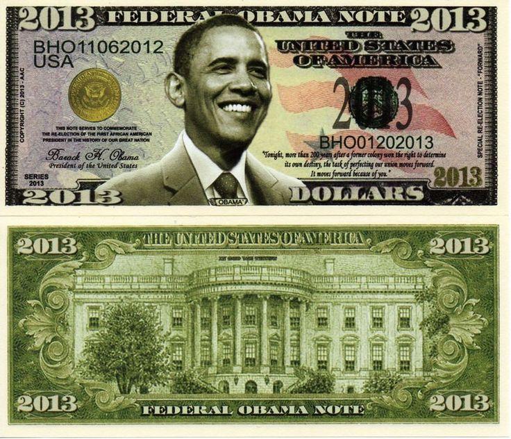 Details about President Barack Obama Presidential 2013 Novelty Money