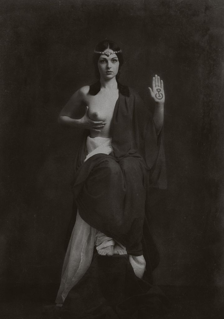 """Gwaschemasch'e Efendi - """"Priestess of the Great Mother, Protector of Mnajdra""""    Icon image from 1905/1906"""