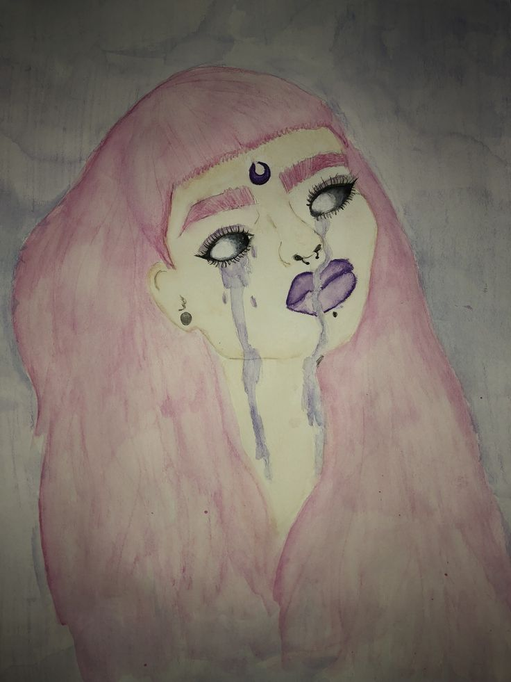 """""""Häxa"""" meaning witch in Sweden. #love #art #scary #watercolor #painting"""