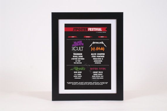 Create Your Own Custom Music Festival Poster Print  by KTPosters