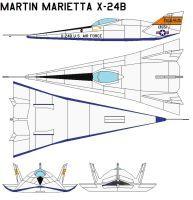 Martin Marietta X-24B by bagera3005