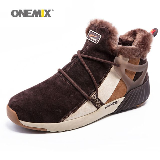 Best Offer $63.04, Buy ONEMIX New Winter Men's Boots Warm Wool Sneakers Outdoor Unisex Athletic Sport Shoes Comfortable Running Shoes Sales