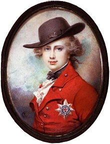 George, Prince of Wales, eldest son of George III.  He became King George IV.