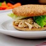 Pulled Chicken Caesar Sandwiches