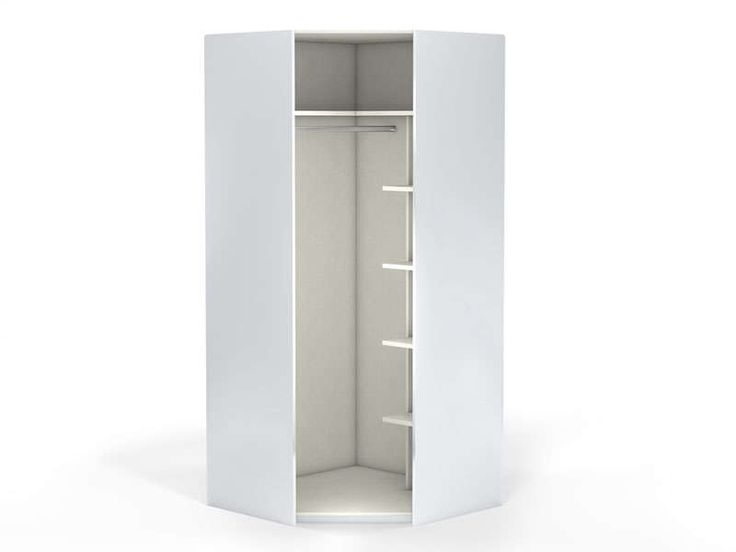 Angle 1 porte 100 cm NO LIMIT coloris blanc - Vente de Armoire - Conforama
