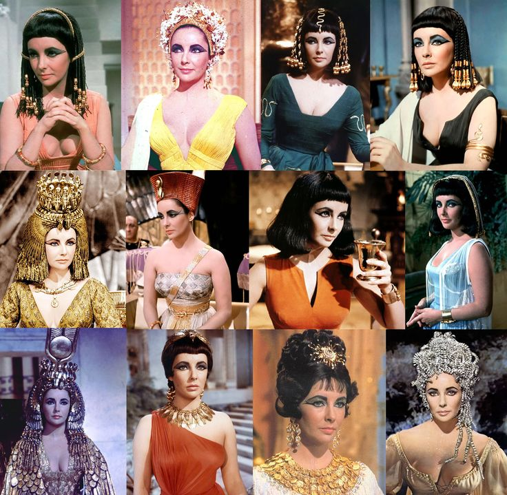 Cleopatra.  Designer for Elizabeth Taylor's costumes--Irene Scharaff