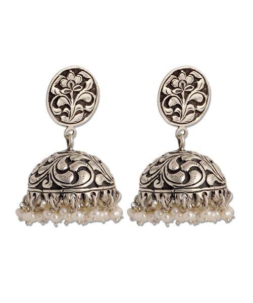 Sangeeta Boochra Handmade Traditional Jhumka, Indian Jhumka. Buy Online at Silver Centrre Jewellery Store. Website: www.silvercentrre.com Email: silvercentrre@gmail.com