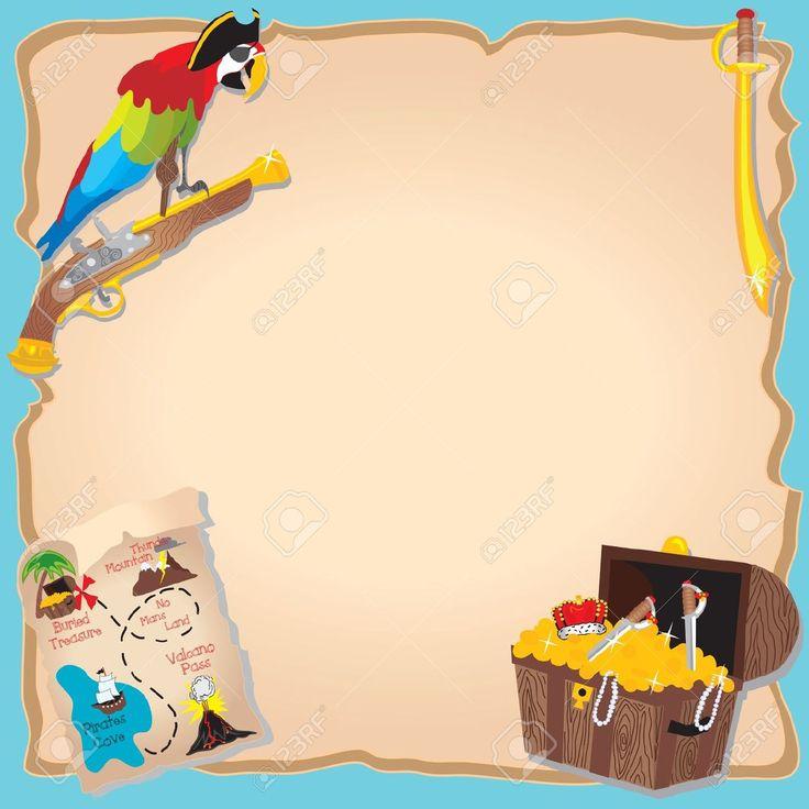 mappe del tesoro: Pirate Birthday Party Invitation caccia al tesoro e con  gambe pappagallo PEG