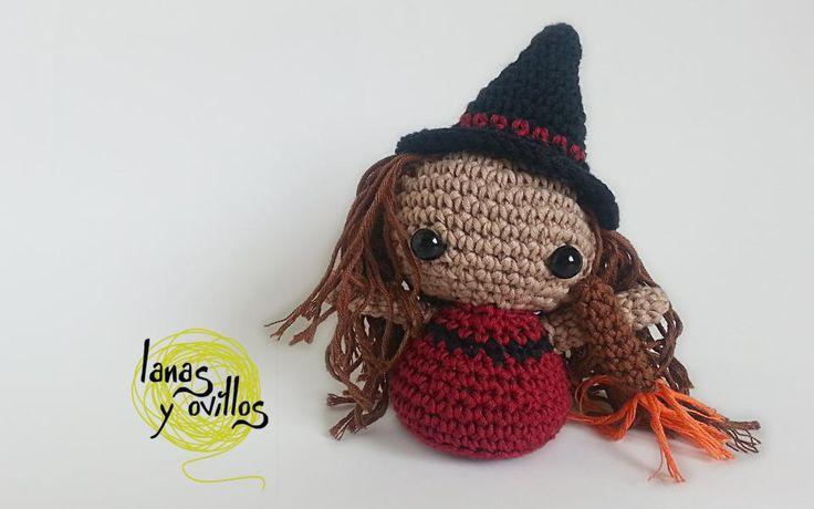 witch amigurumi crochet free pattern patrón gratis