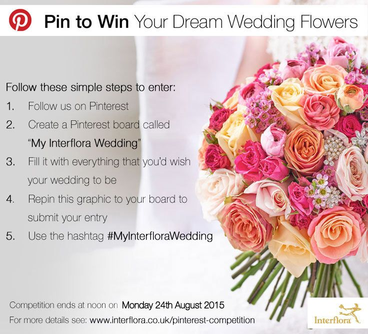 Interflora Competition From Bridal Bouquets To Buttonholes Flowers Play A Huge Part In Helping Create Your Dream Wedding And Were Giving You The Chance