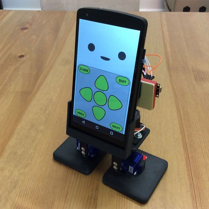 3D Printable MobBob - Smart Phone Controlled Desktop Robot    by Kevin Chan  #3dprinting #3design #3dprinted #myminifactory #3dprinters #3dfilament #download #design #3dobject