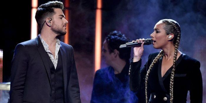 Adam Lambert e Leona Lewis se apresentam juntos em evento de música country - Vagalume