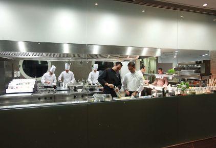 Noble Gourmet Restaurant - open plan kitchen