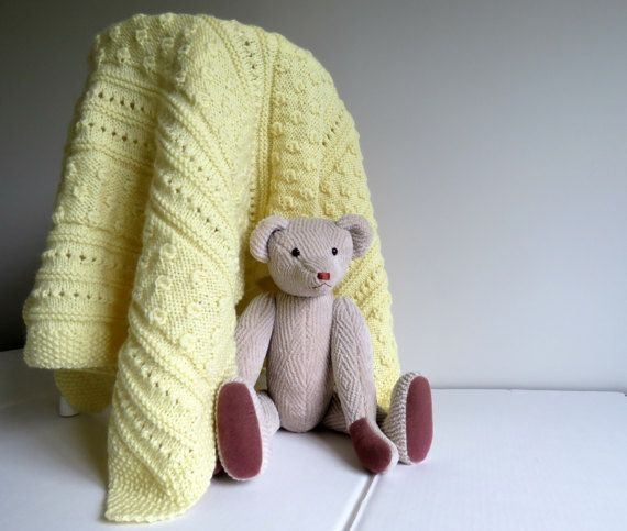 Little Acorns Baby Blanket - this is the actual item, knitted by the designer.