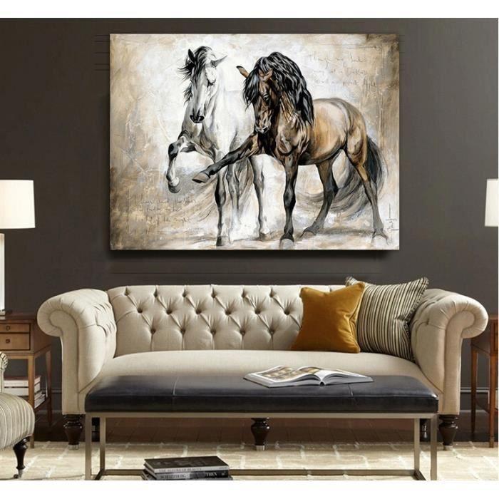 Home Décor Peinture à L Huile Animal Cheval Hd Imprimer