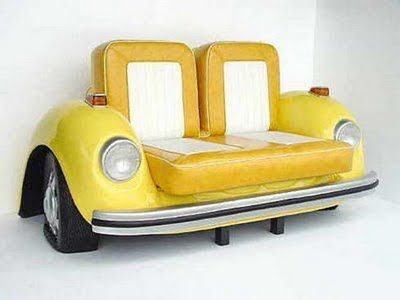 These unique designs for tables, chairs, furniture and unique furniture design with a vintage car. With the concept of a classic car it is, this furniture is very unique and interesting to see.