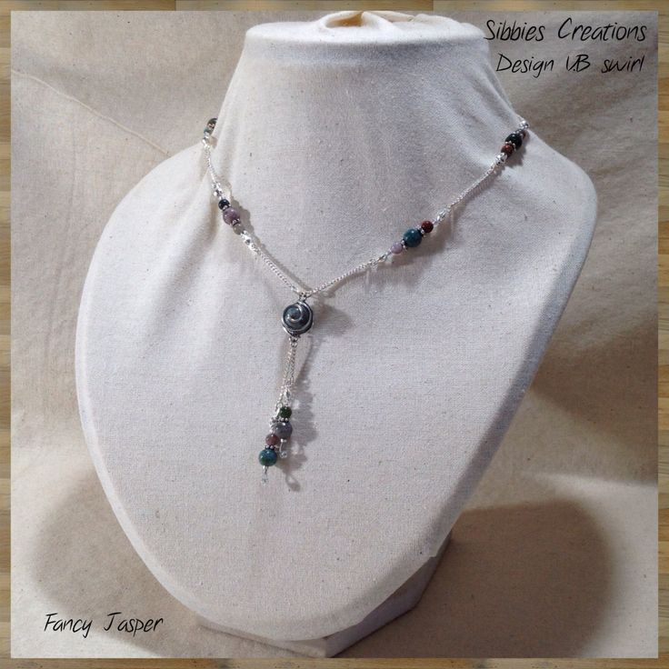 Gemstone Necklace Design NVB001 Swirl. by SibbiesCreations on Etsy