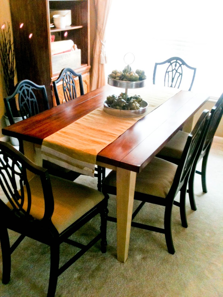 Final dining set with redone chairs and Pier One table :)
