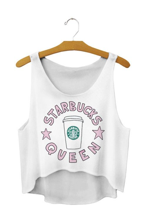White Color Crop Top Drink Print Women T-shirt Camis Women Tops Summer style Sleeveless Bustier Sport
