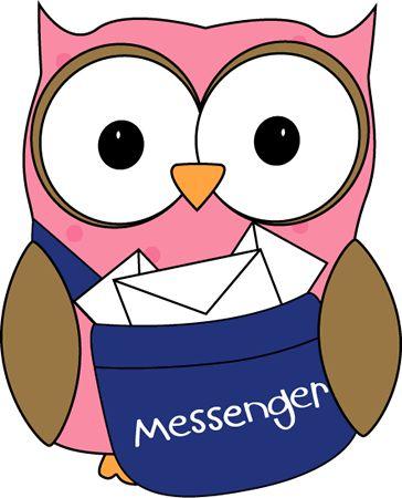 Owl Classroom Messenger Clip Art - Owl Classroom Messenger Vector Image