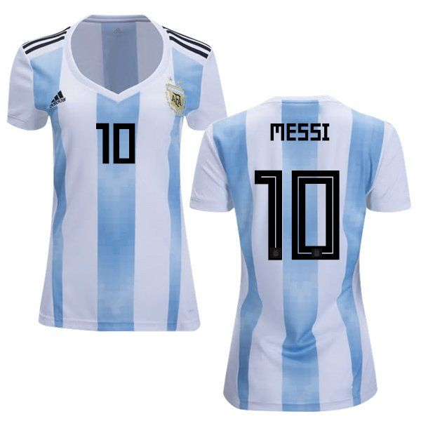 sports shoes 8ee54 b75dd Women's+Messi+#10+Argentina+Home+Jersey+2018-2019 ...