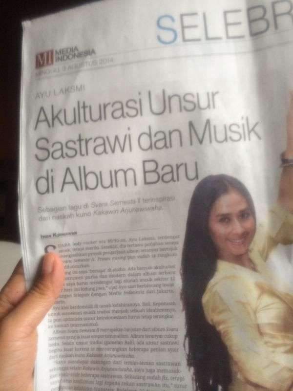 Balinese singer Ayu Laksmi in the news - working on new album - Svara Semesta II #music #musik